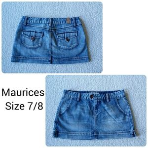 Maurice's Denim Mini Skirt size 7/8